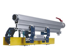 """W5-traxX"", The automation solution with integrated compressed air line, sideways installed energy-guiding chain."