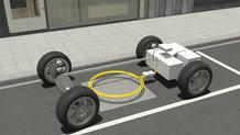 Fahrzeugkonzept mit kabellosem Ladesystem