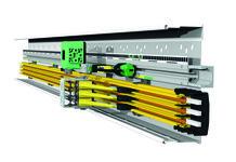ProfiDAT® compact von Conductix-Wampfler vereint gleich drei Funktionen in einem System: Datenübertragung, Schutzleiter und optische Positionsbestimmung