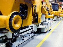 Montagelinie für Baumaschinen