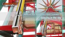 Tower swing carousel at Zamperla