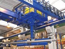 Mehrere Energieübertragungssysteme in Verwendung auf einem Prozesskran