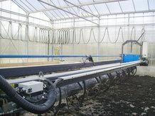Ein Kabelwagensystem wird für die Energieübertragung für eine Schlamm-Trocknungsanlage benötigt
